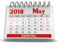 calendar may 2018 clipping path stock image gg98789319